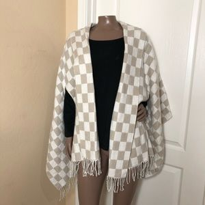**Madewell Checkerboard Brushed Cape Scarf Wrap